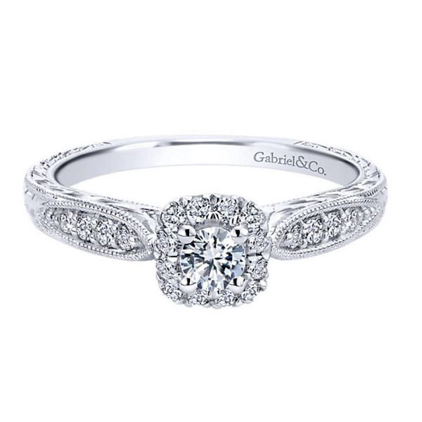 gabriel co white gold engagement ring