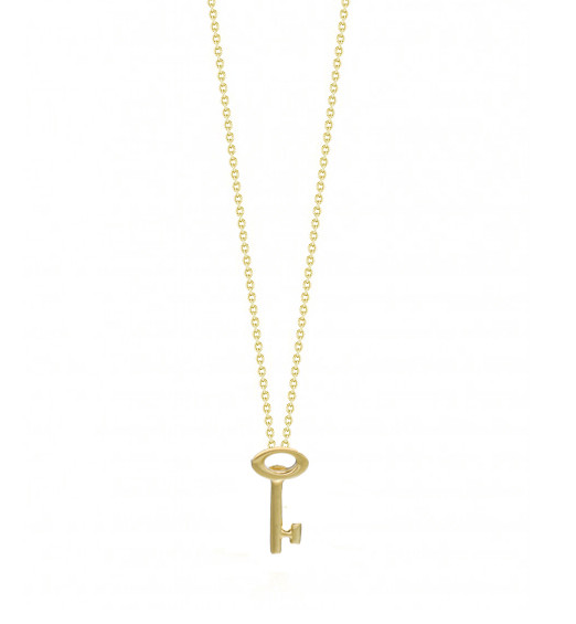 roberto coin 000356aych00 yellow gold key necklace