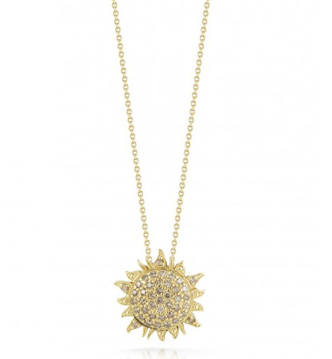 Roberto Coin 000953aychbd Sun Necklace With Diamonds