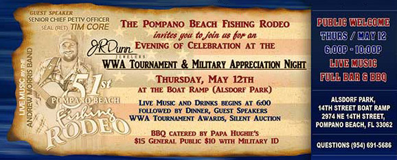 51st Pompano Beach Fishing Rodeo's Wounded Warrior Anglers Tournament