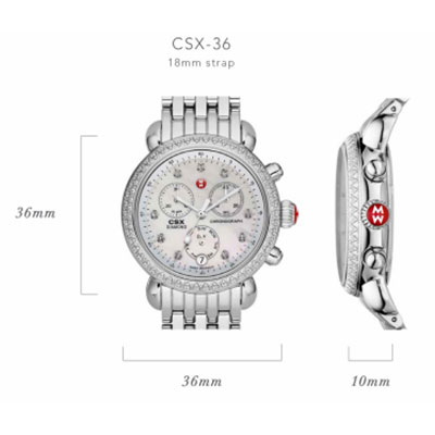 Michele CSX Watch Case Size Guide