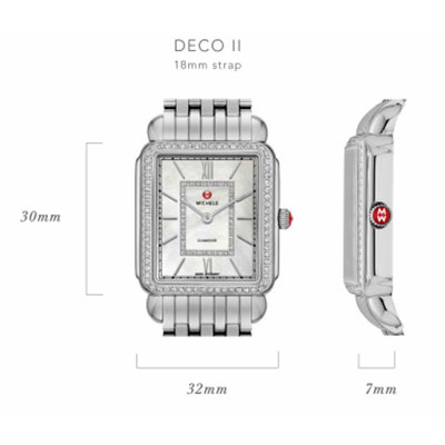 Michele Deco II Watch Case Size Guide