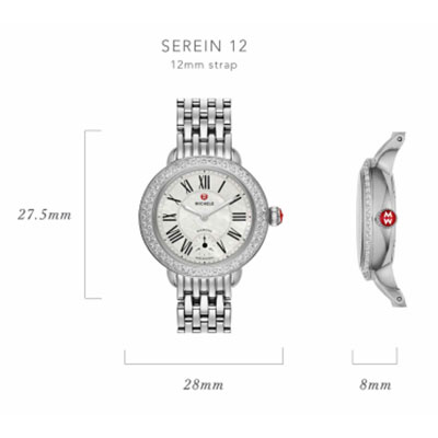 Michele Serein-12 Watch Case Size Guide