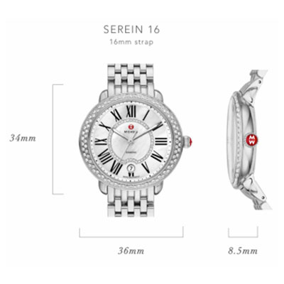Michele Serein-16 Watch Case Size Guide