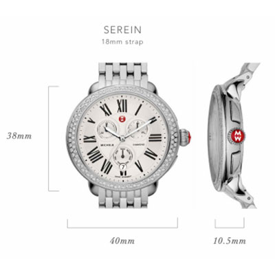 Michele Serein Watch Case Size Guide