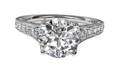 Ritani Micropave Engagement Ring Settings