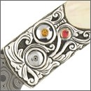 Knife Embellishments & Adornments with Carved Silver